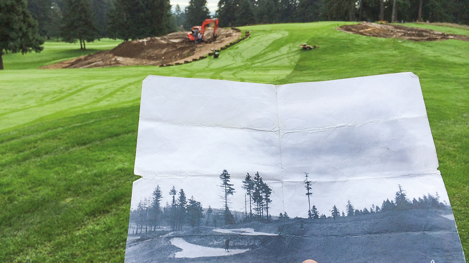 Helping to ensure Vernon Macan's Volcano hole at Fircrest endures