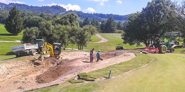 Renovations taking place on course at Club de Golf Larrabea