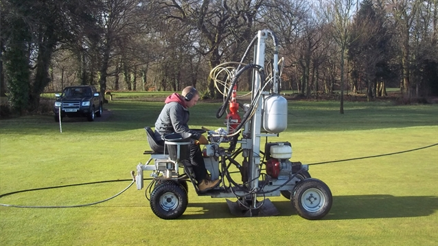 Terrain Aeration completes greens improvement work at Newport Golf Club