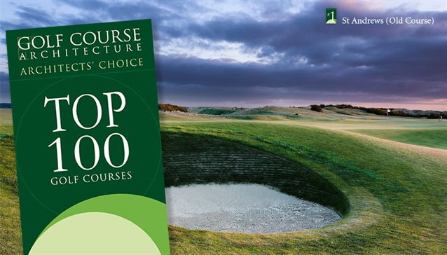 Architects' Choice Top 100 Golf Courses in the world