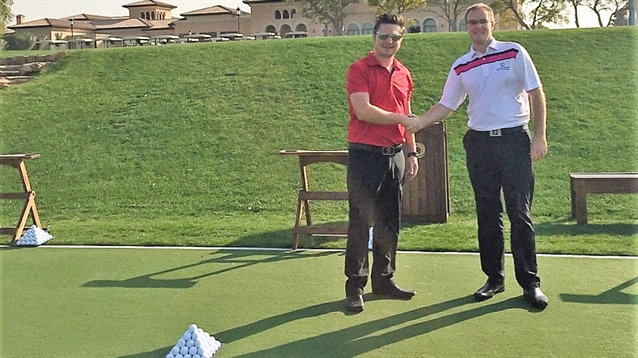 Huxley Golf installs new practice tee at Jumeirah Golf Estates