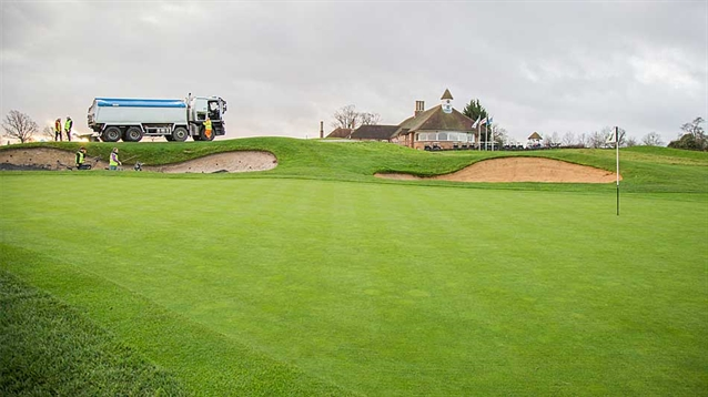 Bunkers at Chart Hills GC benefiting from introduction of Topsport liner