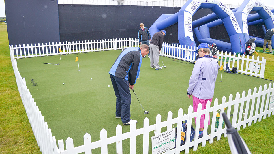 Huxley Golf supporting the R&A's Swingzone at the 2016 Open