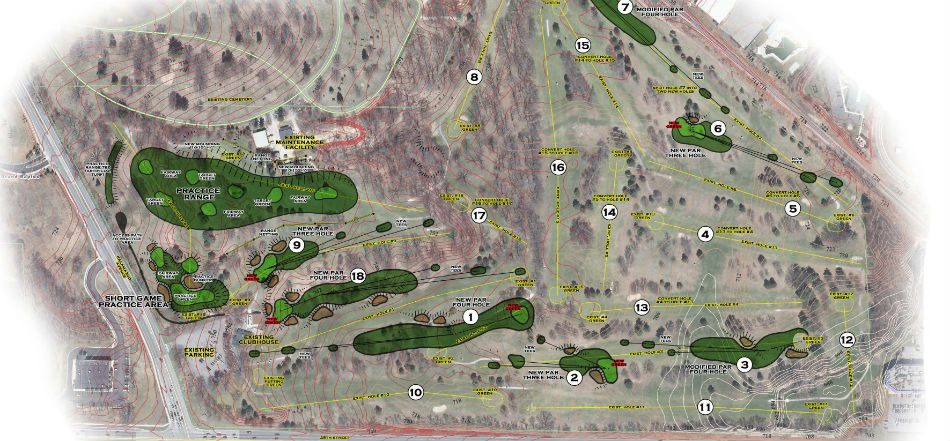 Chris Wilcynzski creating five new holes at Indian Trails Golf Course
