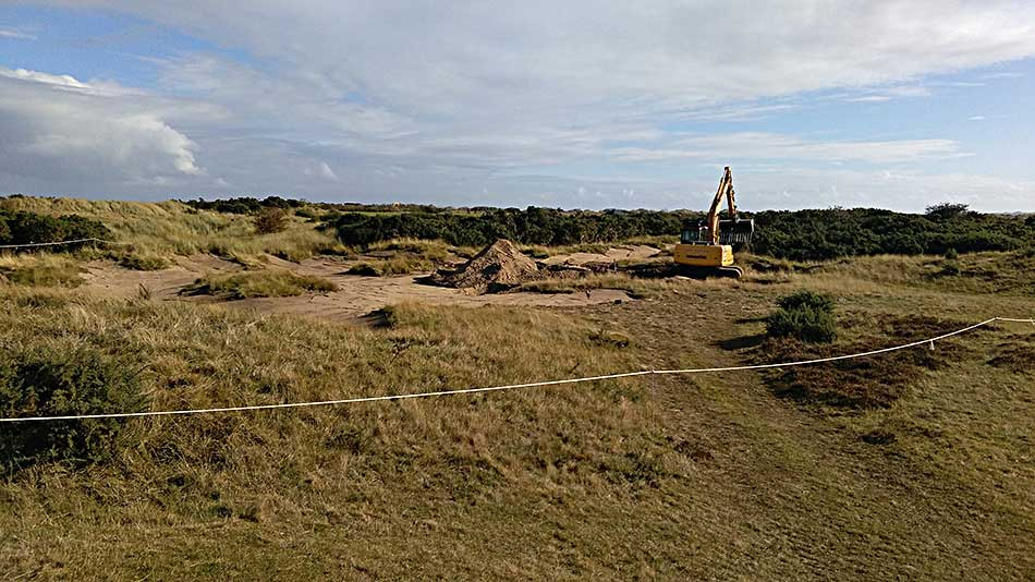 Exposed sand areas created on New course at St Andrews