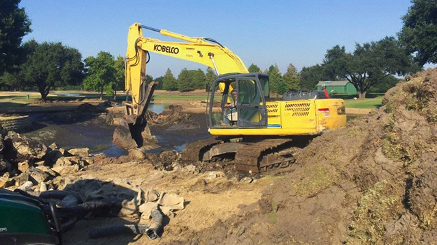 Tripp Davis' renovation work at the Northwood Club gets underway