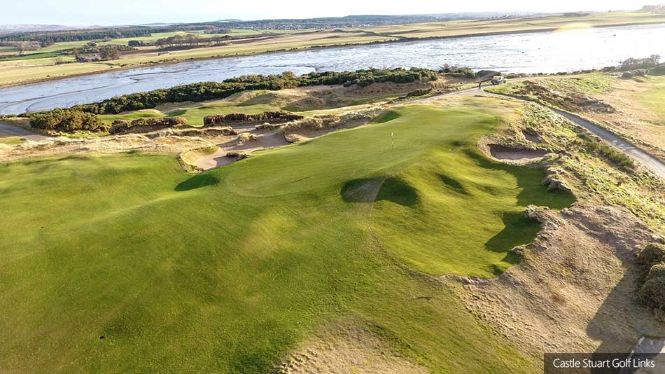 Changes made to formidable bunker on sixth hole at Castle Stuart