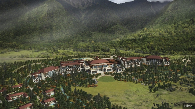 New Hilton resort includes Tibet's first golf course