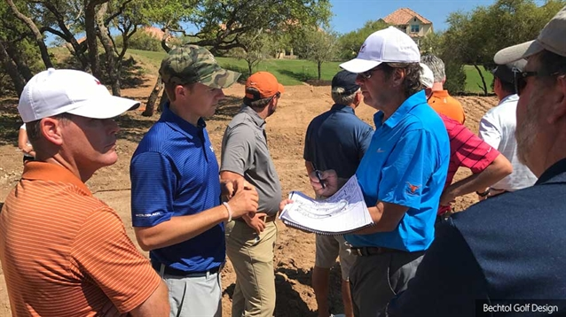 Jordan Spieth works with Roy Bechtol on new University of Texas course