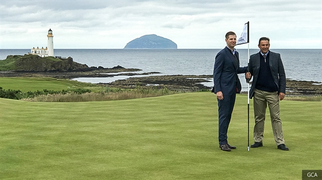 Eric Trump opens new King Robert the Bruce course at Turnberry