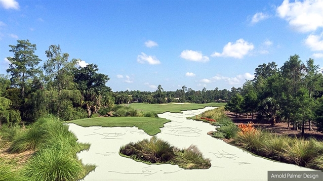 Renovation work takes place on Naples Lakes CC course