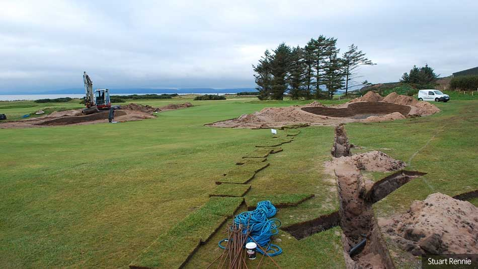 Bunker renovation project takes place at West Kilbride Golf Club