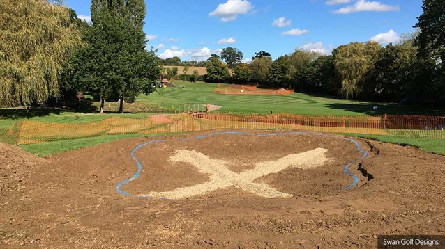 Bunker and green renovation work gets underway at Wellingborough GC