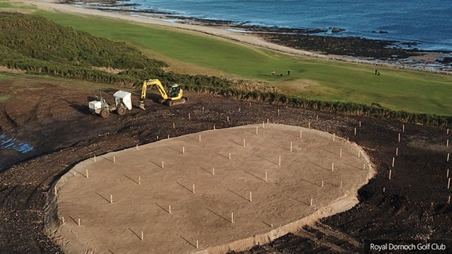 New seventh hole begins to take shape at Royal Dornoch
