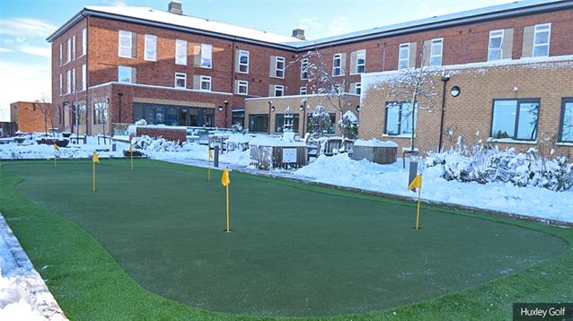 New putting green installed at Help for Heroes' Northern Recovery Centre