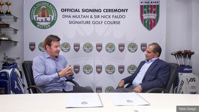 Faldo signs agreement to design Pakistan's first signature course