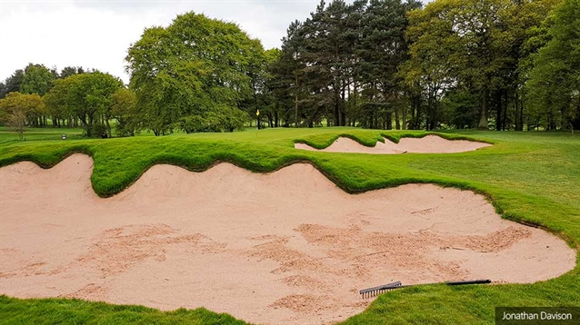 Jonathan Davison restores bunker style at Carlisle Golf Club