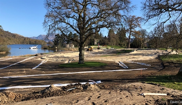 Loch Lomond Golf Club: Drying out