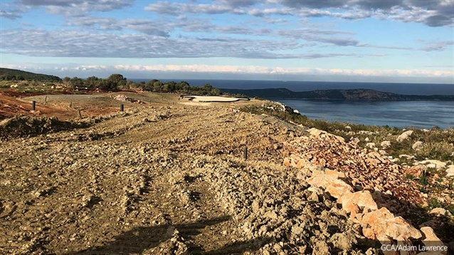 Rocky site for Olazabal Design's Navarino Hills courses