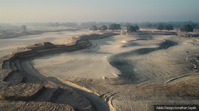 Shaping progresses on new golf course in Pakistan