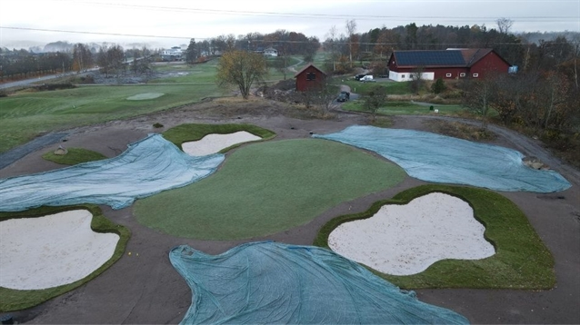 Johan Benestam builds extra par-three hole for Västerås GC