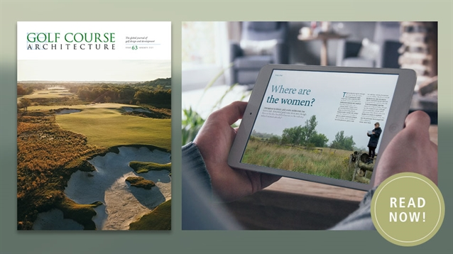 The January 2021 issue of Golf Course Architecture is out now!