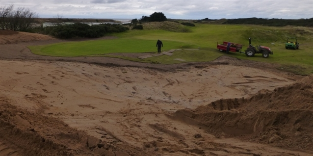 Martin Ebert preparing Royal Troon course for 2016 Open