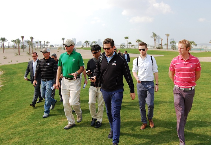 Hanse checks construction progress on Trump Dubai course