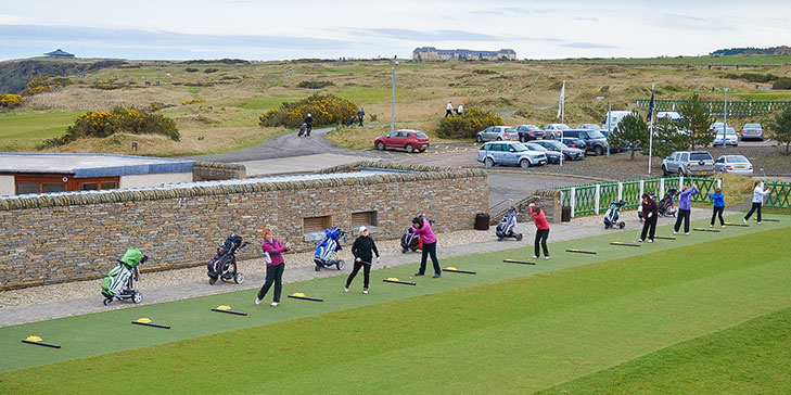 Huxley Golf upgrades practice tees at St Andrews' Castle Course