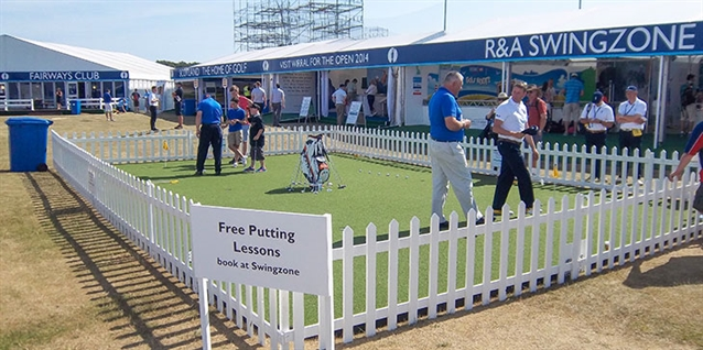 Huxley Golf to deliver all-weather putting green as part of Swingzone event