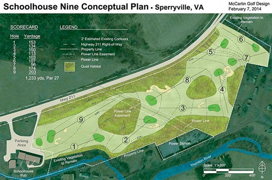 Work begins on new nine-hole 'throwback' course in Virginia