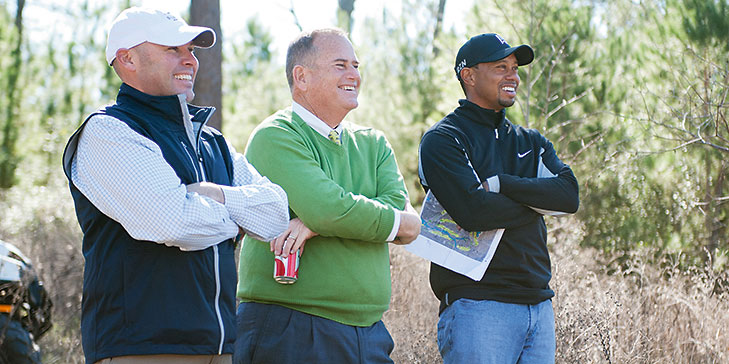 Construction of Tiger Woods firm's design at Bluejack National underway