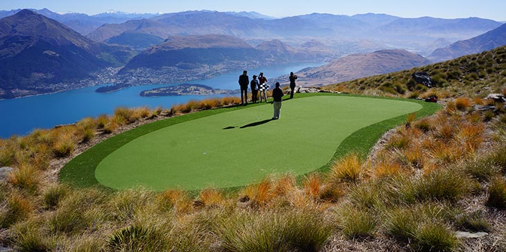 TigerTurf implements artificial green for 'extreme hole' in New Zealand