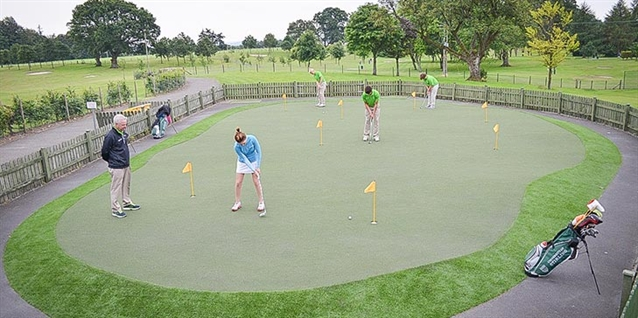 Huxley Golf installs short game practice area at University of Stirling