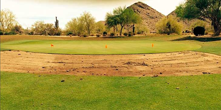Greenside bunker restoration takes place at The Country Club at DC Ranch