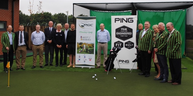 Huxley Golf creates golf practice area at Help for Heroes recovery centre