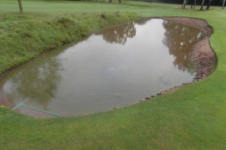 Rapid turnaround after flood causes Little Aston bunker washout