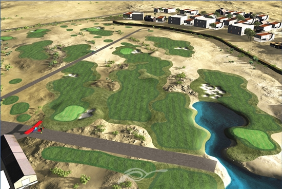 Agustin Pizá breaks ground on site of Peru's first public golf course