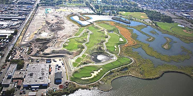 Construction of new nine-hole course in Jersey City close to completion