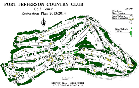 Holes reopen at Port Jefferson Country Club following renovation work