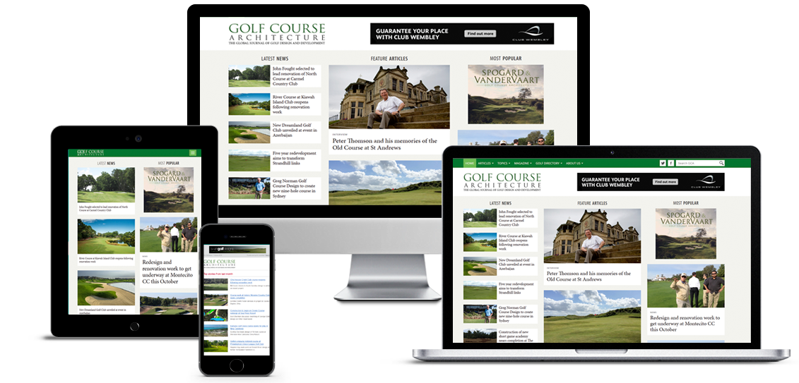 Advertising on the golfcoursearchitecture website